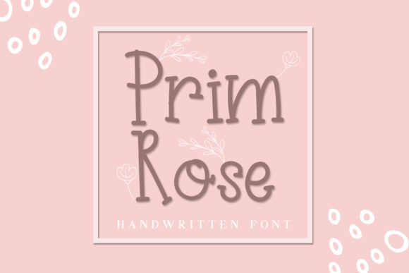 Print on Demand: Prim Rose Slab Serif Font By dmletter31