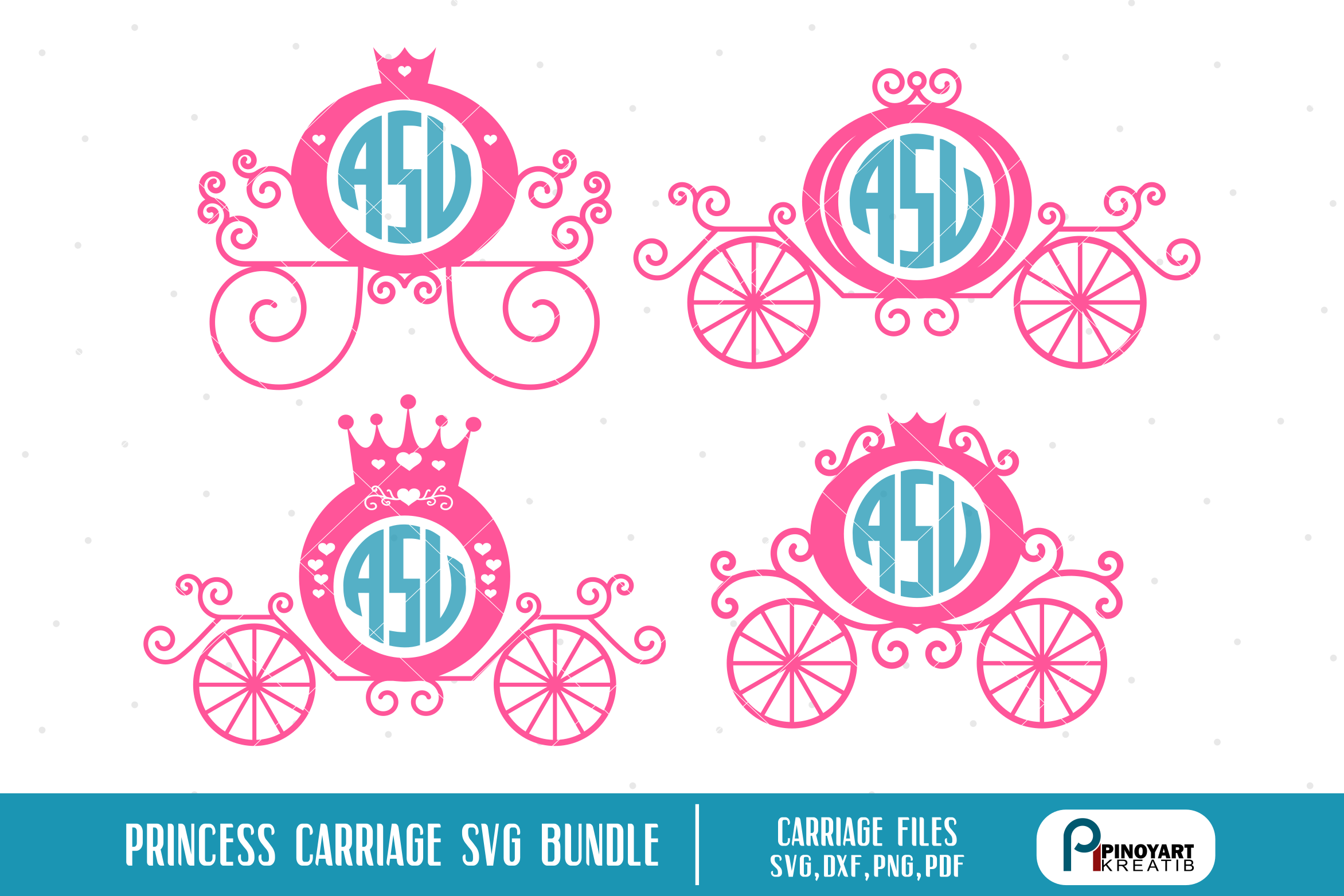 Download Free Princess Carriage Bundle Graphic By Pinoyartkreatib Creative for Cricut Explore, Silhouette and other cutting machines.
