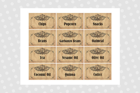 Printable Pantry Labels - Vintage Graphic Crafts By danieladoychinovashop - Image 5
