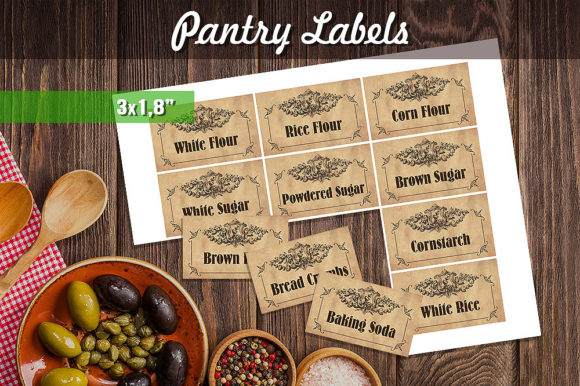 Printable Pantry Labels - Vintage Gráfico Crafts Por danieladoychinovashop