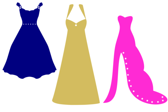 Print on Demand: Prom Dresses Digital SVG Graphic Crafts By Auntie Inappropriate Designs