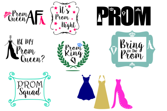 Print on Demand: Prom Svg Bundle Graphic Crafts By Auntie Inappropriate Designs