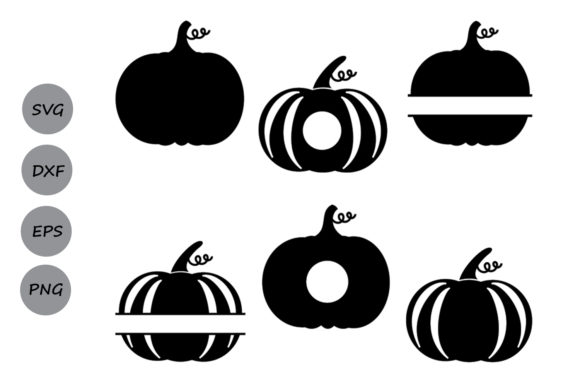 Download Free Pumpkin Set Graphic By Cosmosfineart Creative Fabrica for Cricut Explore, Silhouette and other cutting machines.