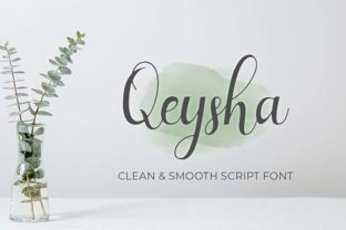 Print on Demand: Qeysha Script Script & Handwritten Font By Panrita Studio