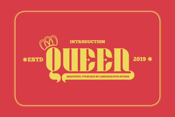 Print on Demand: Queen Sans Serif Font By Line creative - Image 1