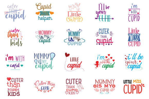 Download Free Quotes About Cupid Bundle Graphic By Thelucky Creative Fabrica for Cricut Explore, Silhouette and other cutting machines.