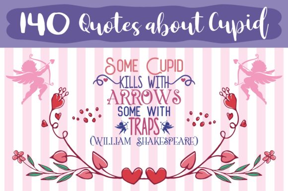 Print on Demand: Quotes About Cupid Bundle's Gráfico Crafts Por TheLucky
