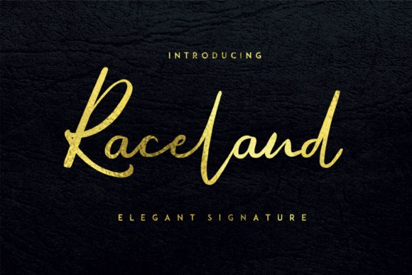 Print on Demand: Raceland Script & Handwritten Font By aksarangga