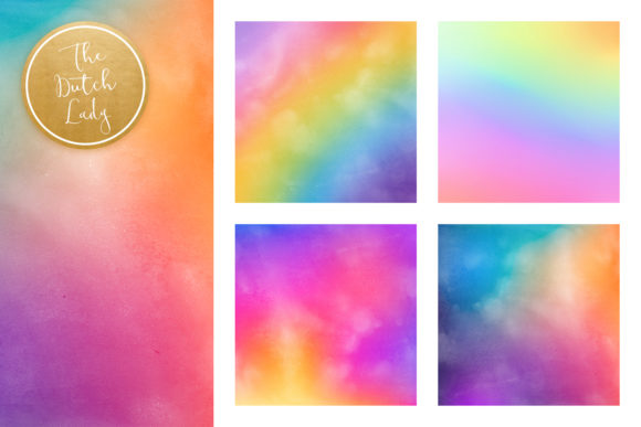 Download Free Rainbow Gradient Scrapbook Papers Graphic By Daphnepopuliers for Cricut Explore, Silhouette and other cutting machines.