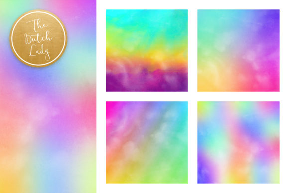 Print on Demand: Rainbow Gradient Scrapbook Papers Graphic Backgrounds By daphnepopuliers - Image 3