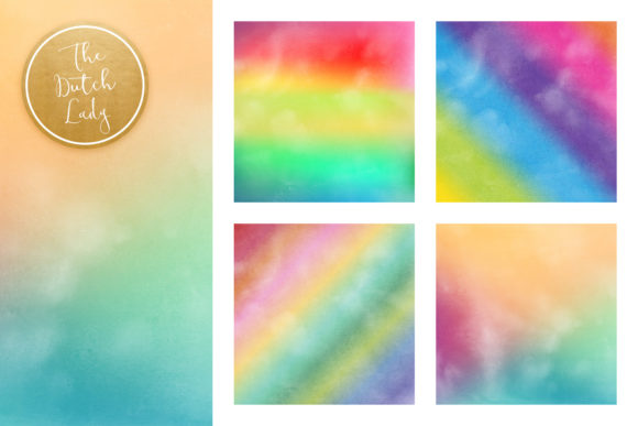 Print on Demand: Rainbow Gradient Scrapbook Papers Graphic Backgrounds By daphnepopuliers - Image 4