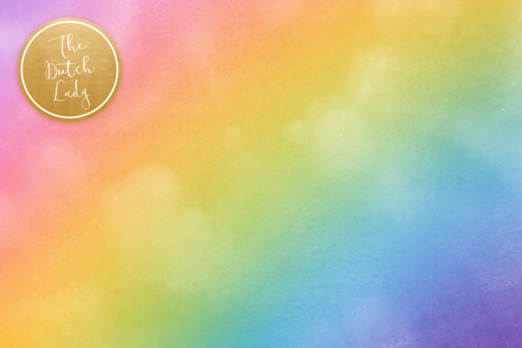 Print on Demand: Rainbow Gradient Scrapbook Papers Graphic Backgrounds By daphnepopuliers - Image 5