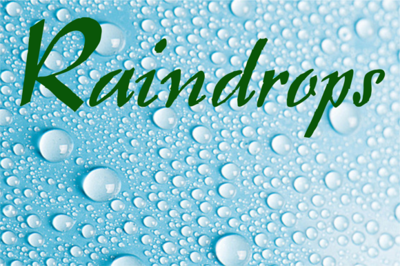 Print on Demand: Raindrops Display Font By Intellecta Design
