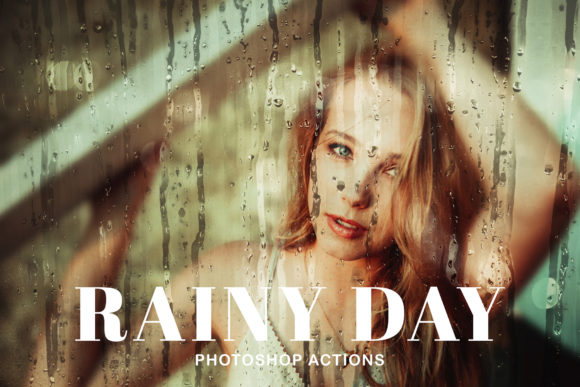 Print on Demand: Rainy Day Photoshop Actions Graphic Actions & Presets By Creative Tacos