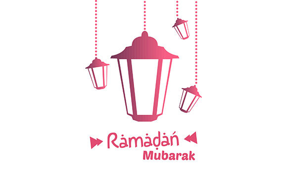Download Free Ramadan Kareem Lantern Gradation Banner Tag Graphic By for Cricut Explore, Silhouette and other cutting machines.