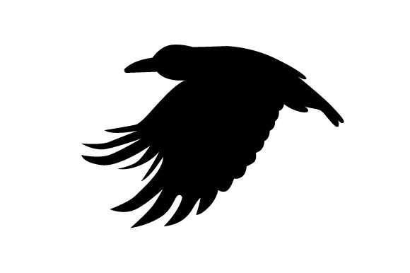 Download Free Raven Silhouette Flying Svg Cut File By Creative Fabrica Crafts for Cricut Explore, Silhouette and other cutting machines.