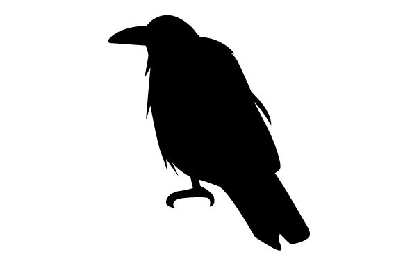 Download Free Raven Silhouette Sitting Svg Cut File By Creative Fabrica Crafts for Cricut Explore, Silhouette and other cutting machines.
