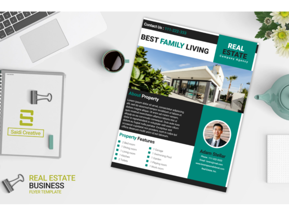 Real Estate Business Flyer & Brochure Template Design Graphic Download
