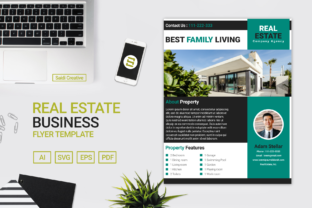 Download Free Real Estate Business Flyer Brochure Template Design Grafico for Cricut Explore, Silhouette and other cutting machines.