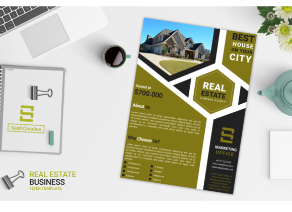 Real Estate Business Flyer & Brochure Template Graphic Download