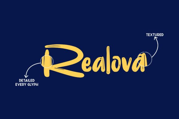 Print on Demand: Realova Display Font By Garisman Studio - Image 3