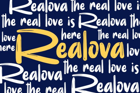 Print on Demand: Realova Display Font By Garisman Studio - Image 1