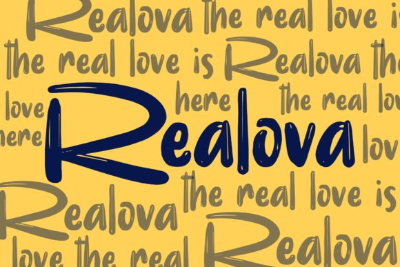 Print on Demand: Realova Display Font By Garisman Studio - Image 8