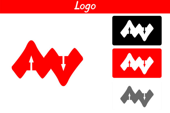 Print on Demand: Red AA Logo Graphic Icons By Arief Sapta Adjie II