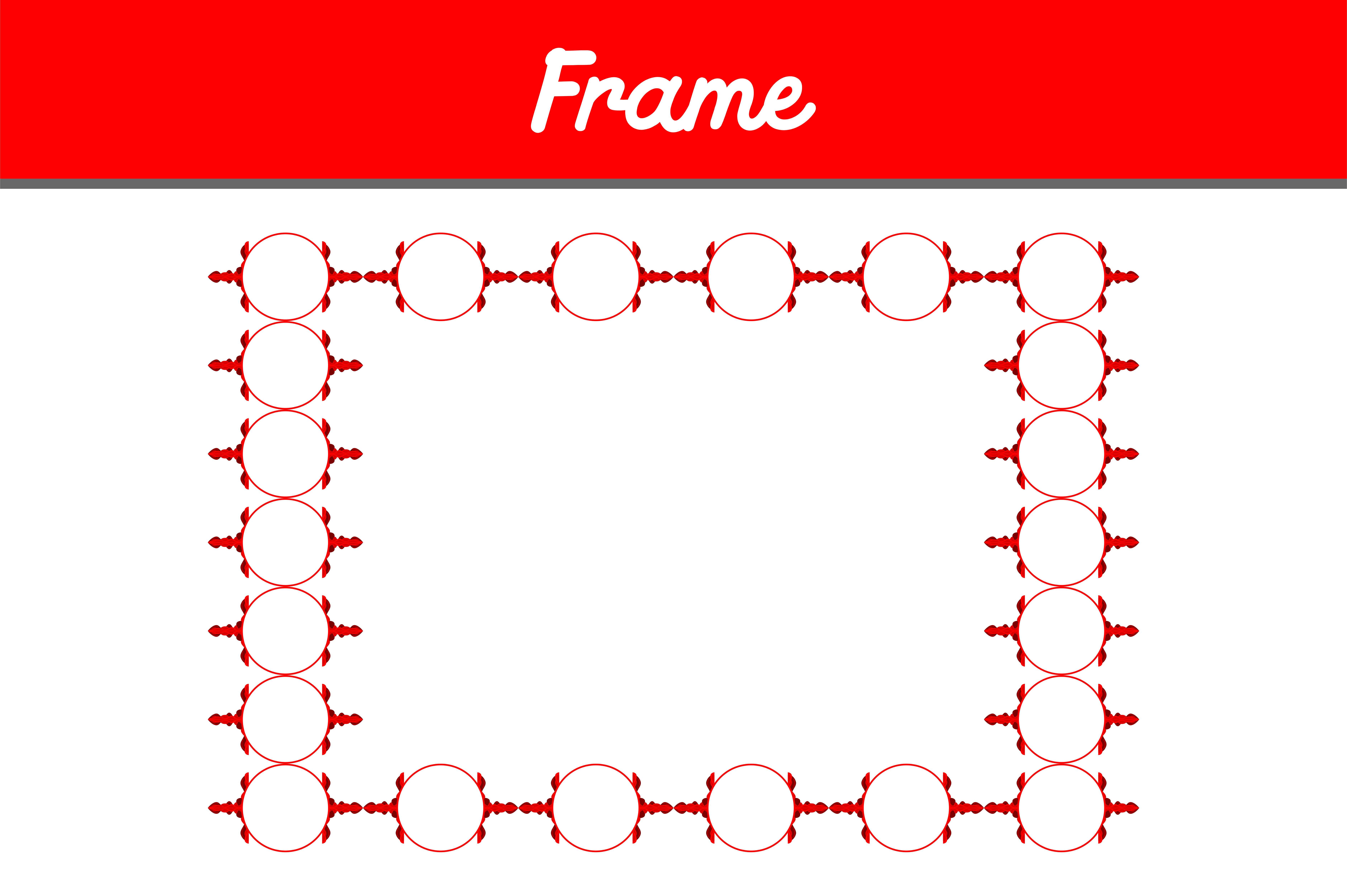 Download Free Red Border Frame Ornament Graphic By Arief Sapta Adjie Ii for Cricut Explore, Silhouette and other cutting machines.