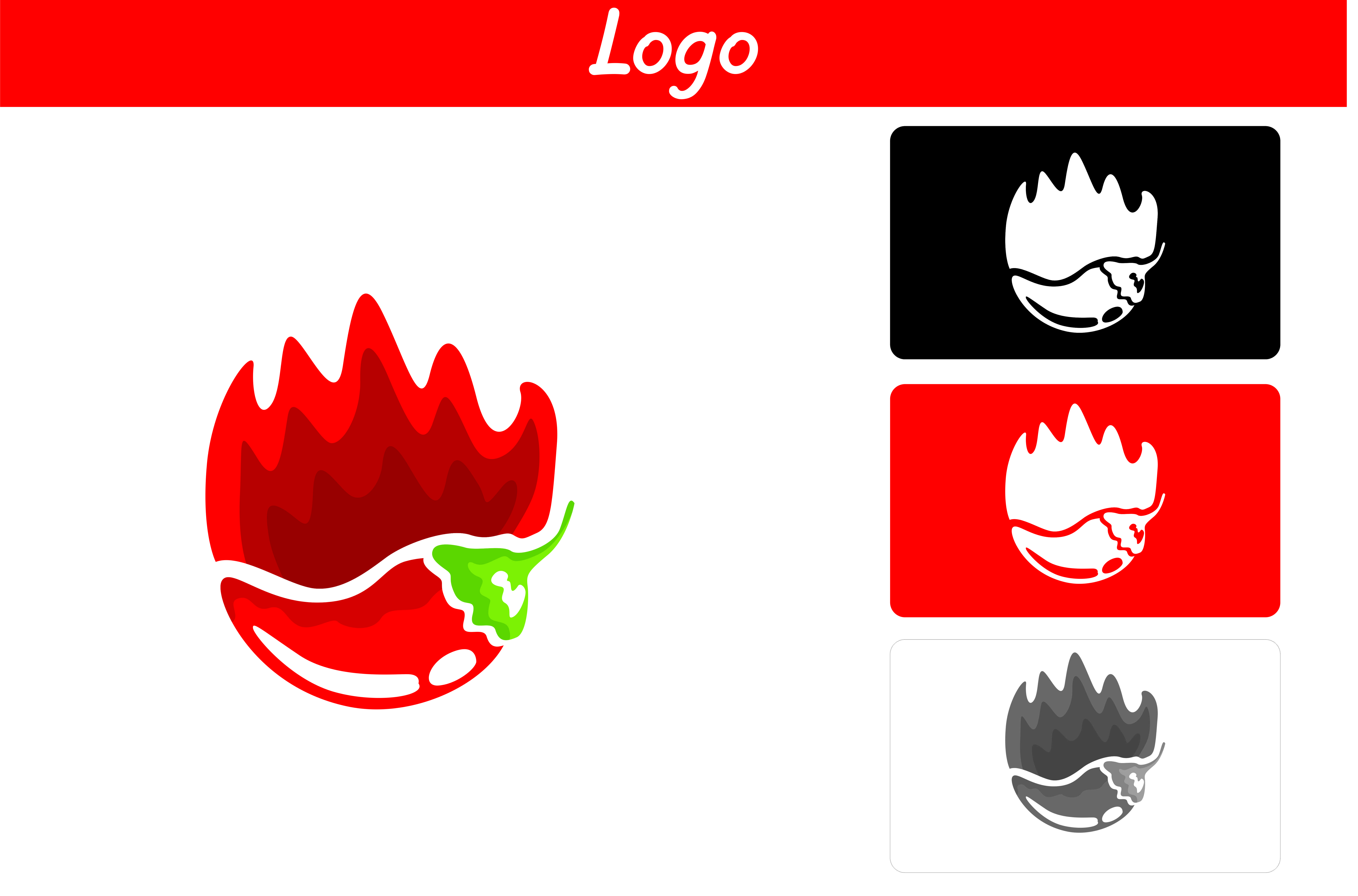Download Free Red Chili Logo Graphic By Arief Sapta Adjie Creative Fabrica for Cricut Explore, Silhouette and other cutting machines.