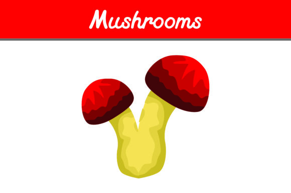 Print on Demand: Red Mushroom Vector Graphic Icons By Arief Sapta Adjie II