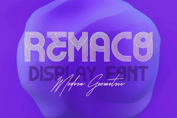 Remaco Display Font By JumboDesign