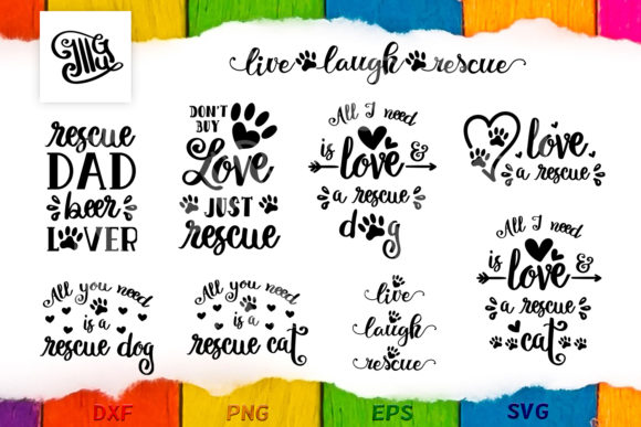 Download Free Rescue Pet Dog Cat Bundle Graphic By Illustrator Guru for Cricut Explore, Silhouette and other cutting machines.