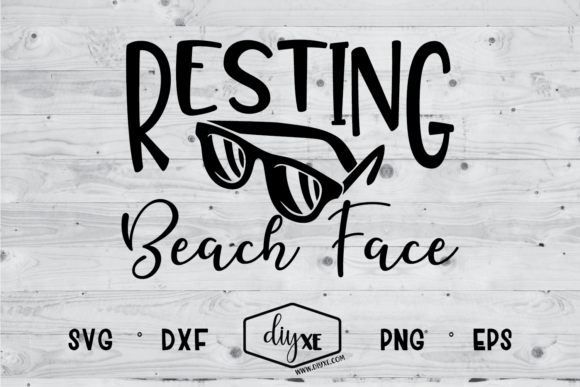 Resting Beach Face Graphic Crafts By Sheryl Holst