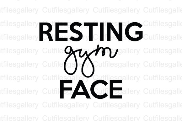 Download Free Resting Gym Face Svg Graphic By Cutfilesgallery Creative Fabrica SVG Cut Files