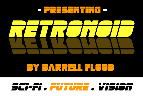 Print on Demand: Retronoid Display Font By Dadiomouse