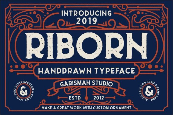 Print on Demand: Riborn Family Display Font By Garisman Studio