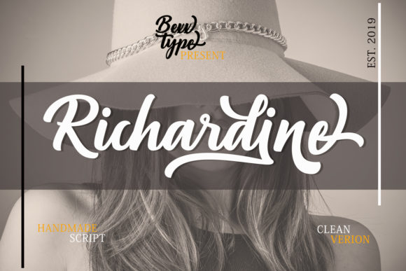 Print on Demand: Richardine Script Script & Handwritten Font By Bexx Type