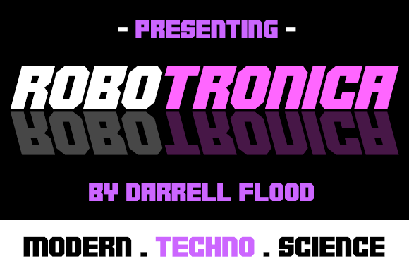 Robotronica Display Font By Dadiomouse