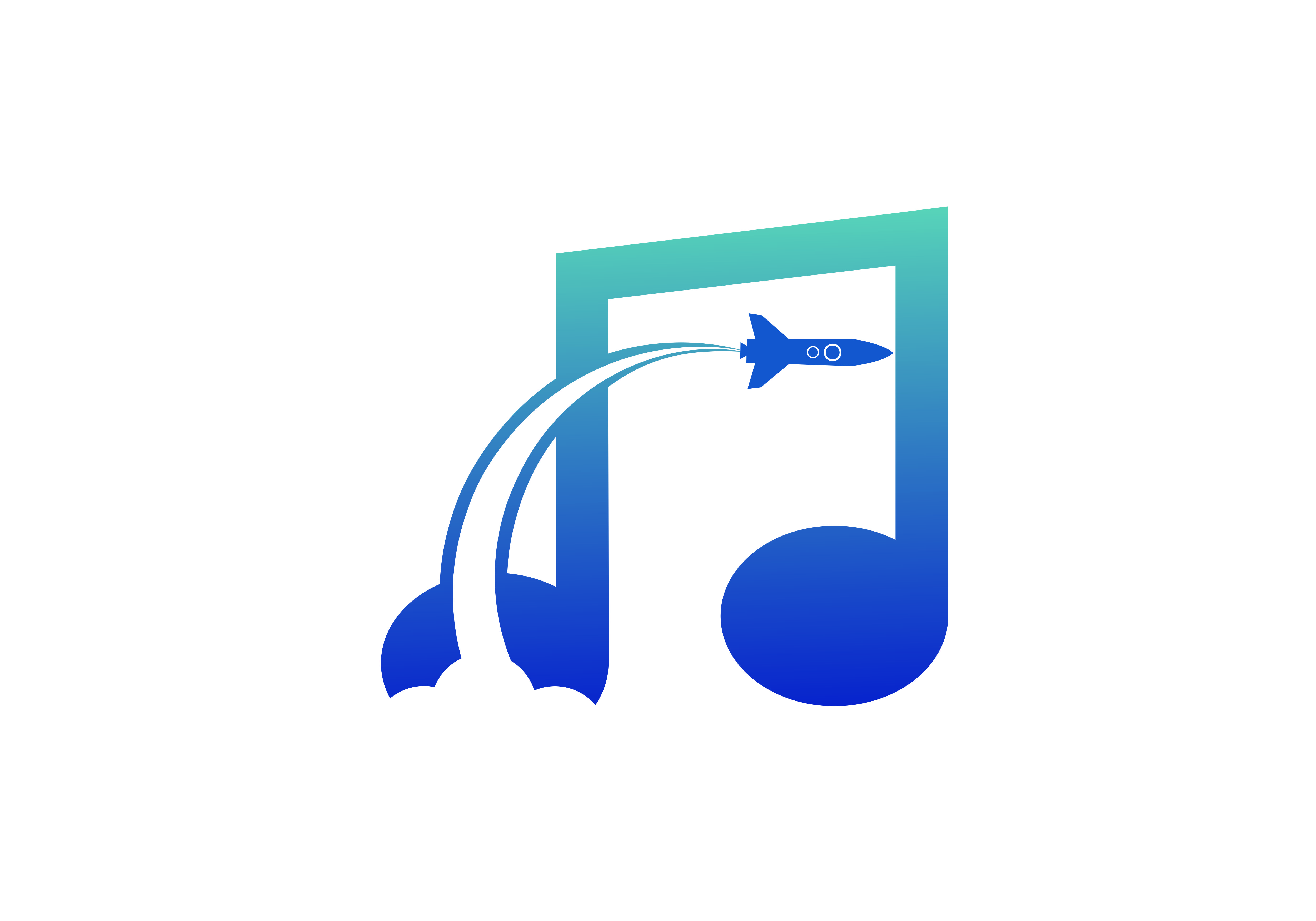 Download Free Rocket Note Music Logo Graphic By Deemka Studio Creative Fabrica for Cricut Explore, Silhouette and other cutting machines.