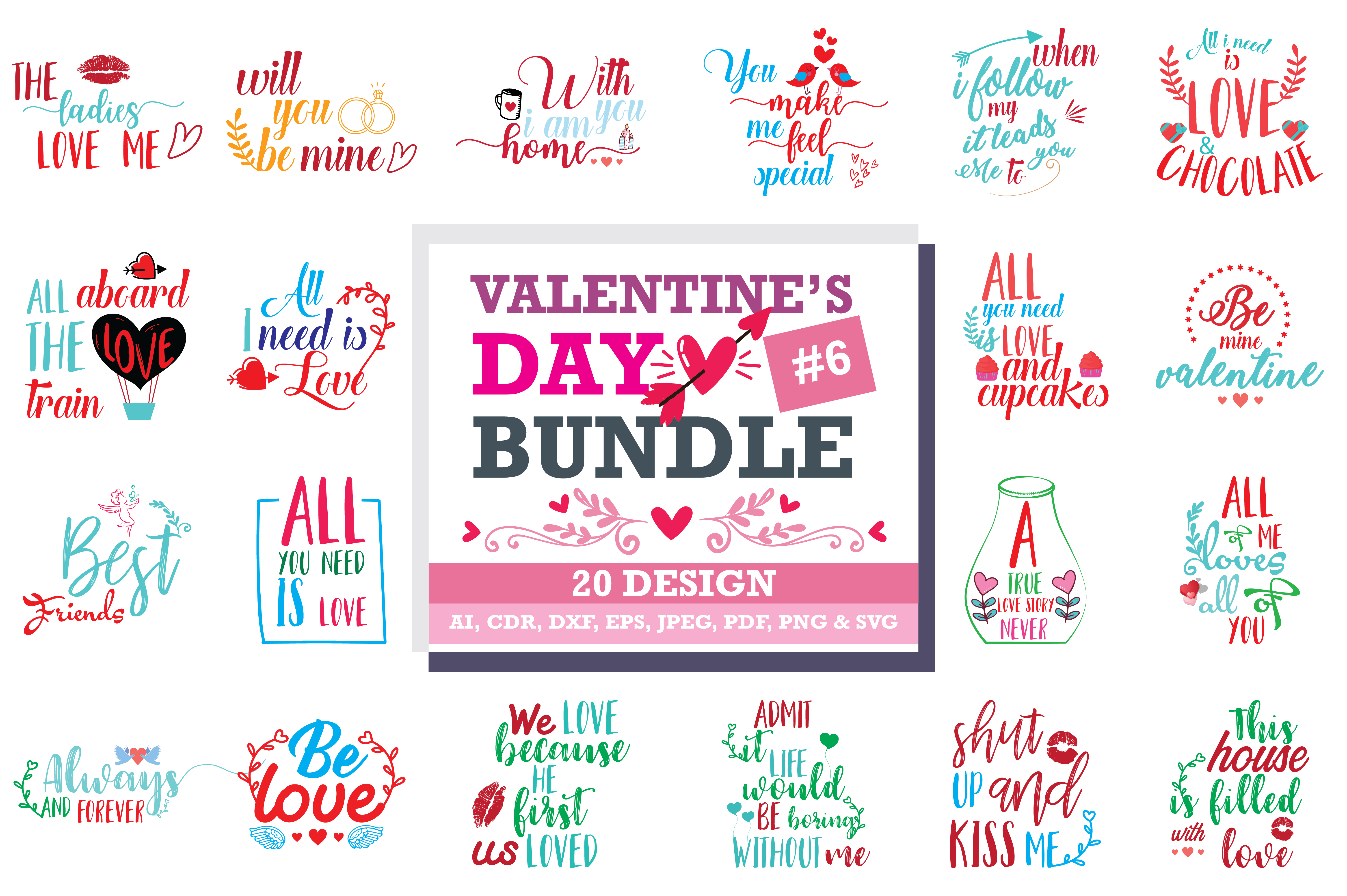 Romantic SVG Bundle Graphic by TheLucky - Creative Fabrica
