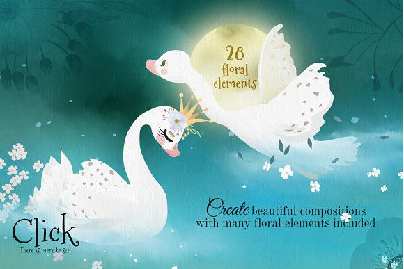 Romantic Swans Graphic By Anna Babich Image 3