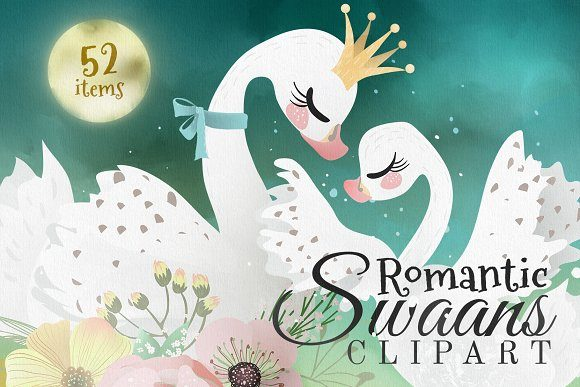 Print on Demand: Romantic Swans Graphic Illustrations By Anna Babich