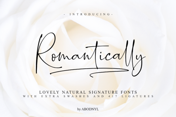 Print on Demand: Romantically Script & Handwritten Font By Abodaniel