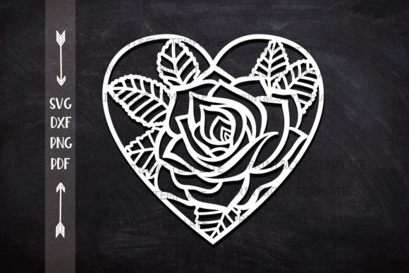 Rose Heart Graphic Crafts By Cornelia
