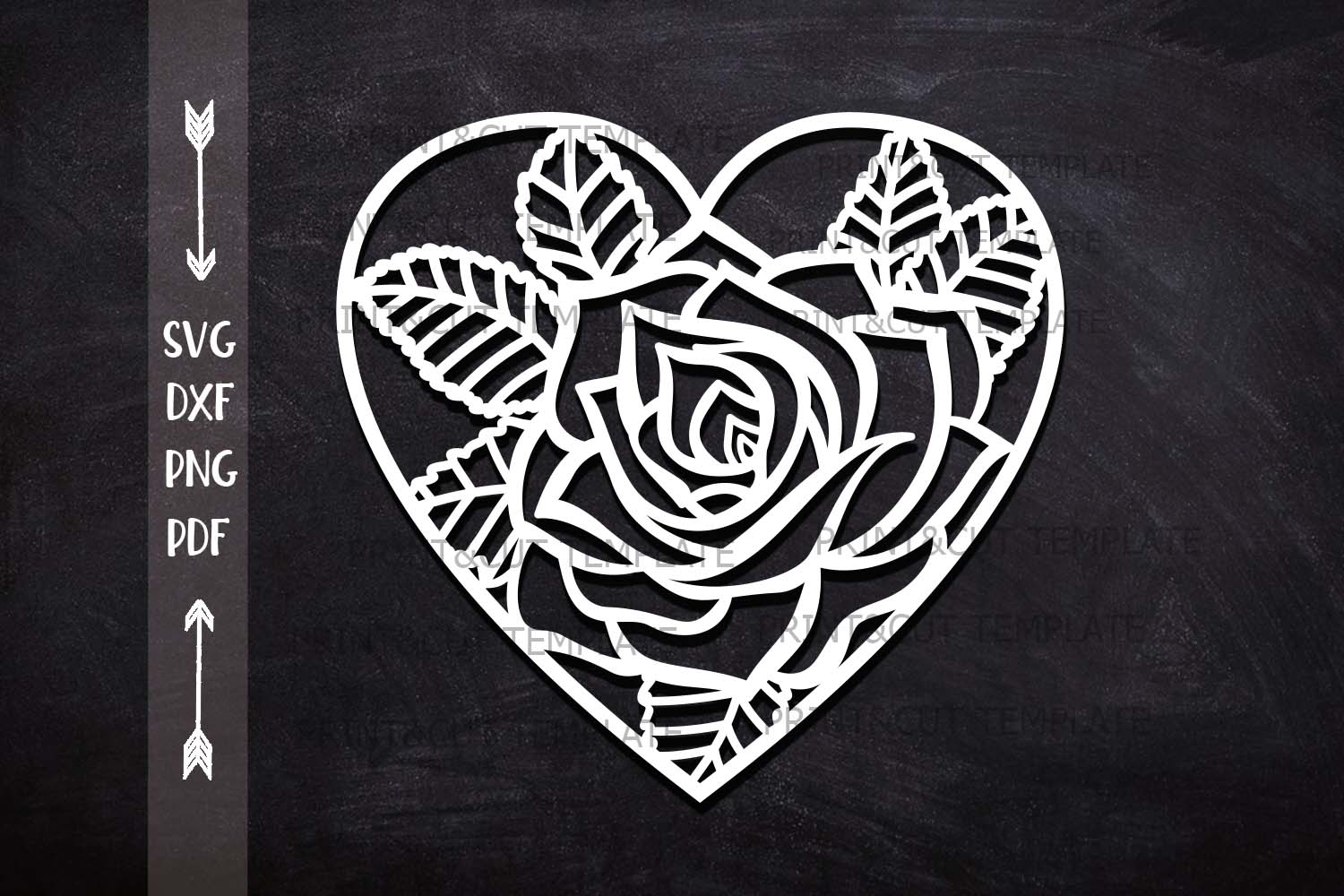 Download Free Rose Heart Graphic By Cornelia Creative Fabrica for Cricut Explore, Silhouette and other cutting machines.