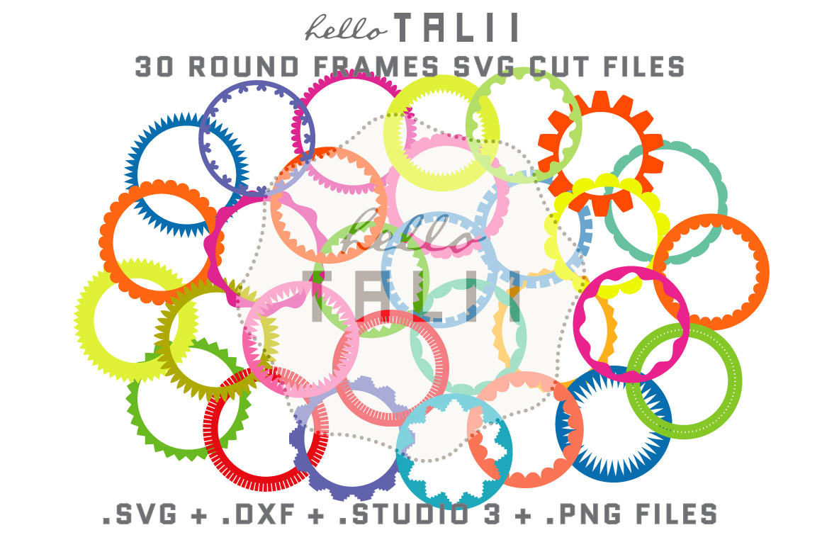 Download Free Round Frames Bundle Graphic By Hello Talii Creative Fabrica for Cricut Explore, Silhouette and other cutting machines.
