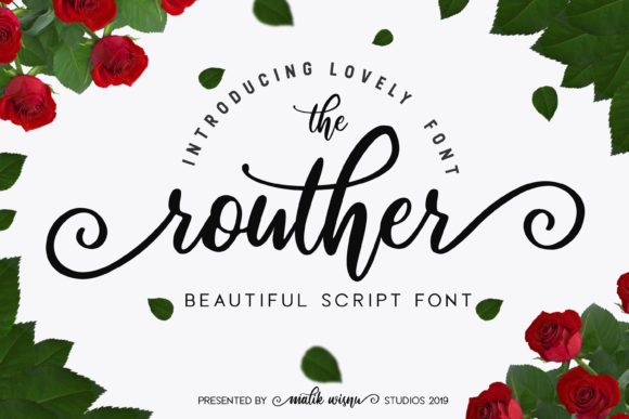 Print on Demand: Routher Script Script & Handwritten Font By MLKWSN studio
