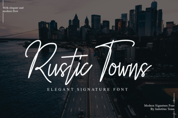 Print on Demand: Rustic Towns Script & Handwritten Font By indotitas