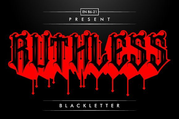 Ruthless Blackletter Font By EN86-21